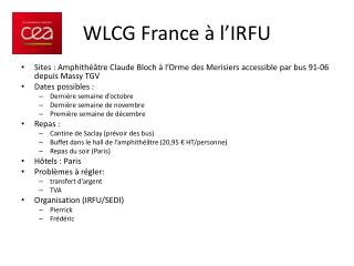 WLCG France à l'IRFU