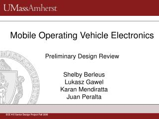 Mobile Operating Vehicle Electronics