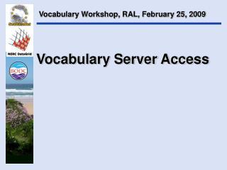 Vocabulary Server Access