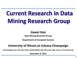 Current Research in Data Mining Research Group