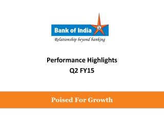 Performance Highlights Q2  FY15