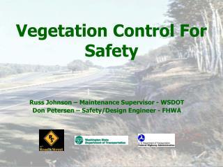 Vegetation Control For Safety