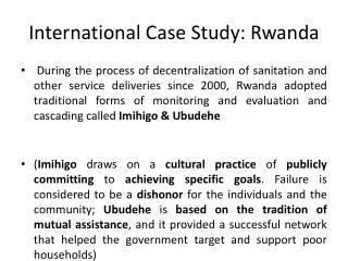 International Case Study: Rwanda