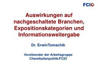 Auswirkungen auf nachgeschaltete Branchen, Expositionskategorien und Informationsweitergabe