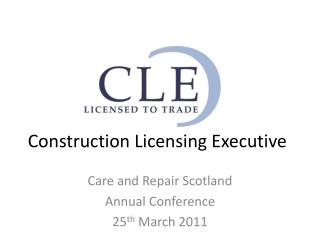Construction Licensing Executive