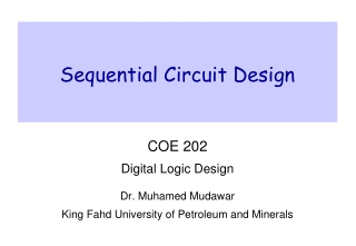 Outline Design a special-type synchronous sequential circuit using a counter Schematic entry