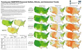 Twenty-year NADP/NTN Seasonal Sulfate, Nitrate, and Ammonium Trends