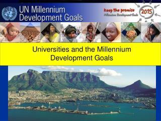 Universities and the Millennium Development Goals