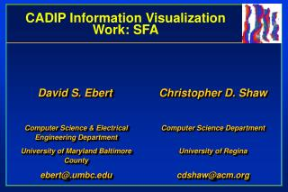 CADIP Information Visualization Work: SFA