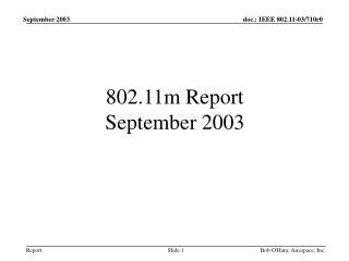 802.11m Report September 2003