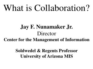 What is Collaboration?