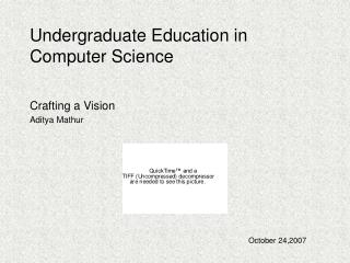 Undergraduate Education in Computer Science