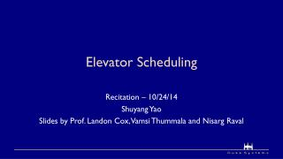 Elevator Scheduling