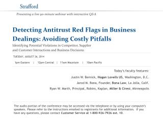 Detecting Antitrust Red Flags in Business  Dealings: Avoiding Costly Pitfalls