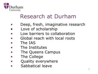 Research at Durham