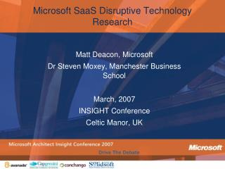 Microsoft SaaS Disruptive Technology Research