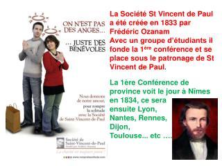 La Société St Vincent de Paul aujourd'hui est à l'œuvre dans  147 Pays avec  45 500 conférences