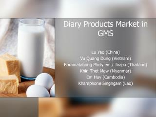 Diary Products Market in GMS
