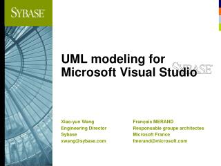 UML modeling for Microsoft Visual Studio