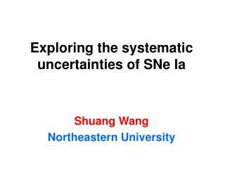 Exploring the systematic uncertainties of SNe Ia