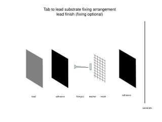 Tab to lead substrate fixing arrangement lead finish (fixing optional)