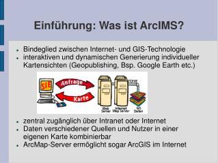 Einführung: Was ist ArcIMS?