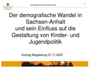 Vortrag Magdeburg 21.11.2007