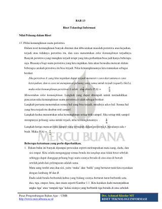 Pusat Pengembangan Bahan  Ajar – UMB   mercubuana.ac.id