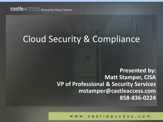 Cloud Security & Compliance