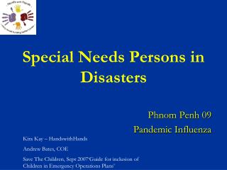 Special Needs Persons in Disasters