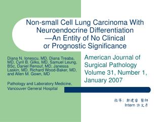 American Journal of Surgical Pathology  Volume 31, Number 1, January 2007