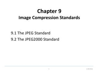 Chapter 9 Image Compression Standards