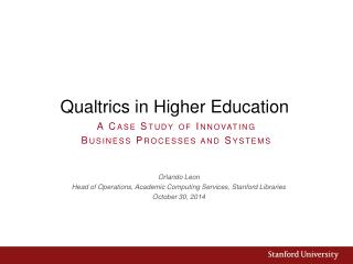 Qualtrics in Higher Education