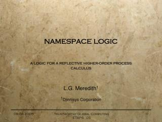 namespace logic