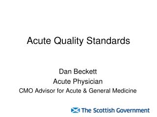 Acute Quality Standards