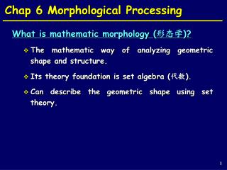Chap 6 Morphological Processing