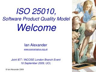 ISO 25010, Software Product Quality Model  Welcome