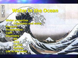 Water in the Ocean