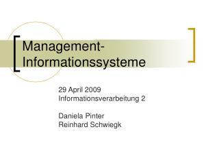 Management-Informationssysteme