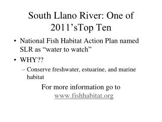 South Llano River: One of 2011'sTop Ten