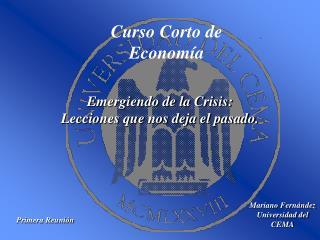Curso Corto de  Economía