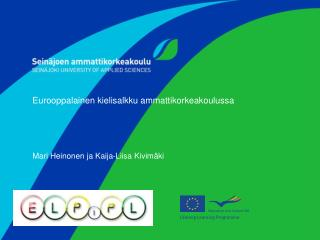 Eurooppalainen kielisalkku ammattikorkeakoulussa