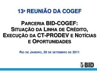 SITUAÇÃO DA LINHA DE CREDITO CCLIP-PROFISCO