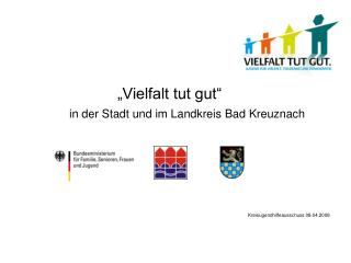 """""""Vielfalt tut gut""""  in der Stadt und im Landkreis Bad Kreuznach"""