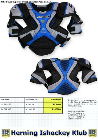 Nike Bauer Supreme One90  Shoulder Pads Sr. & Jr .