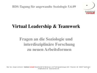 Virtual Leadership & Teamwork