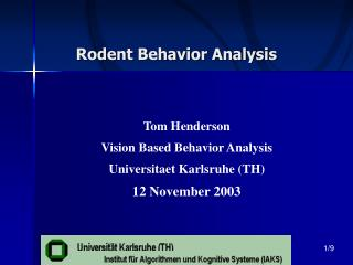 Rodent Behavior Analysis