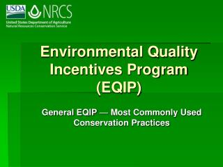 Environmental Quality Incentives Program (EQIP)