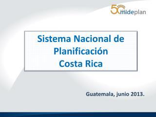 Sistema Nacional de Planificación Costa Rica