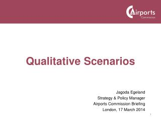 Qualitative Scenarios